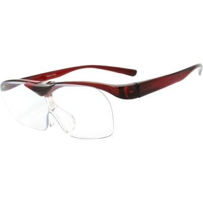 メガネタイプのハネアゲ拡大鏡 FSL015 ブラウン(1コ入)