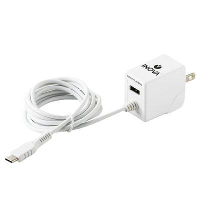 INOVA USB 1ポート Type-C ACアダプタ付 充電ケーブル 3R-CAC04
