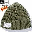 ニューエラ キッズニットキャップ ミリタリーニット パッチ アーミーグリーン アルパイングリーン Era Knit Cap Military Knit Pa h Army Green Alpine Green