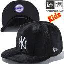 ニューエラ 950 スナップバック キッズキャップ シンセティックファー ニューヨーク ヤンキース ブラック ブラック スノーホワイト スノーホワイト 11165934
