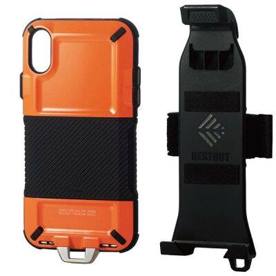 ELECOM iPhone XR/ハイブリッドケース/ネストアウト PM-A18CHVODTDR
