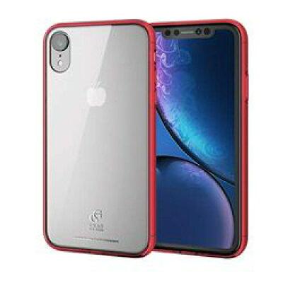 ELECOM iPhone XR用ハイブリッドケース PM-A18CHVCG1RD