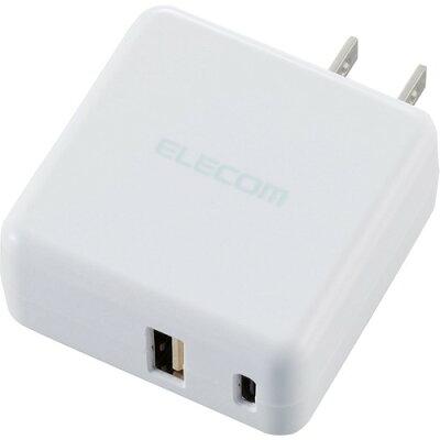 エレコム 充電器 スマホ タブレット 3.6A出力 USB-Aメス1ポート Type-Cメス1ポート 白(1個入)