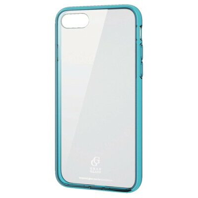 iPhone 8 ハイブリッドケース ガラス スタンダード クリアブルー(1コ入)