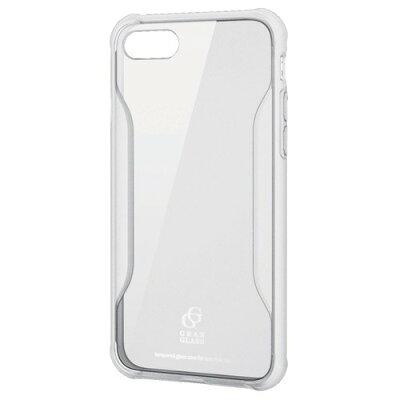 iPhone 8 ハイブリッドケース ガラス 耐衝撃設計 クリア(1コ入)