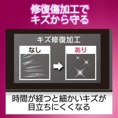 エレコム 任天堂 スイッチ フィルム 高光沢 傷修復 エアーレス加工(1枚)