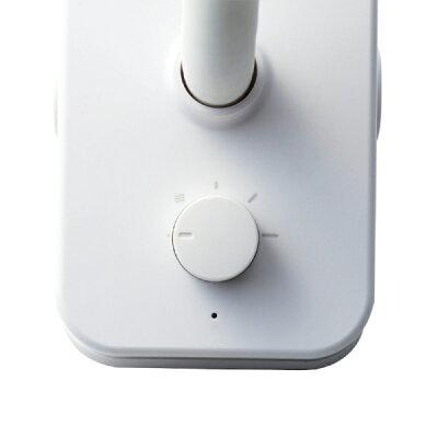 エレコム USB扇風機 クリップタイプ リチウムイオン電池搭載 フレキシブルアーム 風量調整 ホワイト FAN-U195WH-B