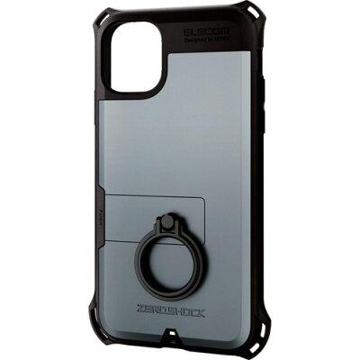 ELECOM iPhone 11用ZEROSHOCK PM-A19CZERORSV