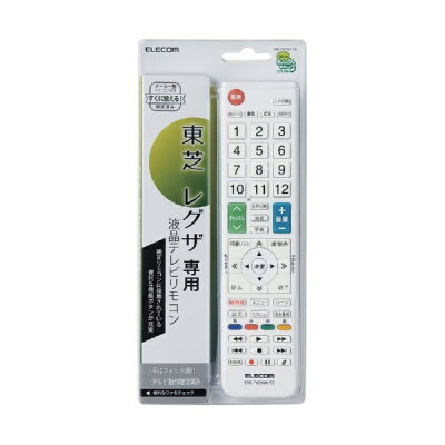 ELECOM TV用リモコン ERC-TV01WH-TO