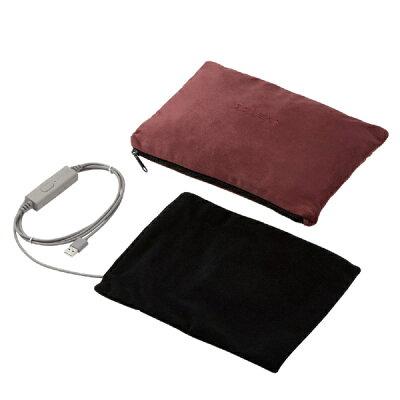 エレコム USB ブランケット 肩掛け ひざ掛け 防寒 暖かい 防寒 ヒーター ブラウン(1枚)