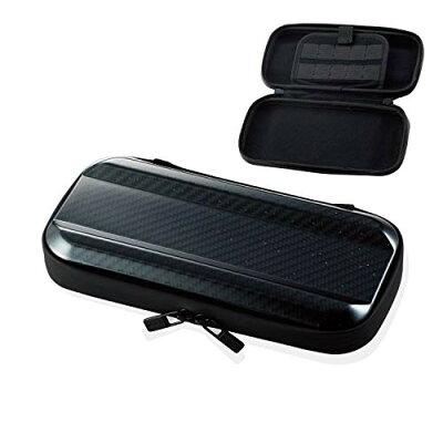 エレコム ELECOM Nintendo Switch Lite専用 ZEROSHOCKハードポーチ カーボン調ブラック GM-NSLZSHCCB