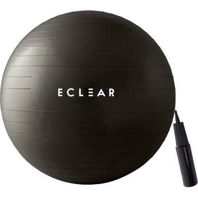 エレコム バランスボール 55cm ハンドポンプ付き エクササイズ ブラック HCF-BB55BK(1個)