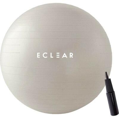 エレコム バランスボール 75cm ハンドポンプ付き エクササイズ アイボリー HCF-BB75IV(1個)