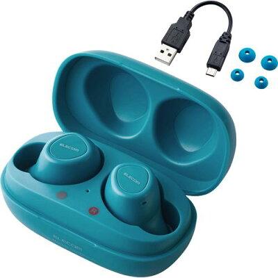 エレコム ワイヤレスイヤホン Bluetooth 完全 軽量 小型 通話 LBT-TWS10BU(1セット)