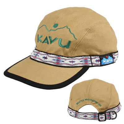 KAVU カブー エンブロイダリーストラップキャップ/ KAVU/khaki 19810756
