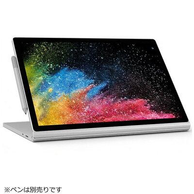 マイクロソフト Microsoft FUX-00023 Windowsタブレット ノートパソコン Surface Book 2  (サーフェスブック2) シルバー 15.0型 /intel Core i7 /SSD:512GB /メモリ:16GB /2019年1月モデル