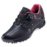 アシックス レディース ゴルフシューズ LADY GEL-TUSK Boa 23.0cm/ブラック×ブラック/3E TGN912_9090