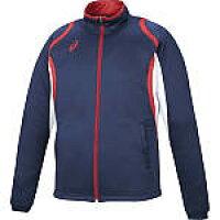アシックス asics メンズ デコトレーニングジャケット ネイビー XAT12D 50