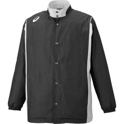 アシックス ウオームアップ ウオームアップジャケット XBT161 ブラック×ミディアムシルバー 150