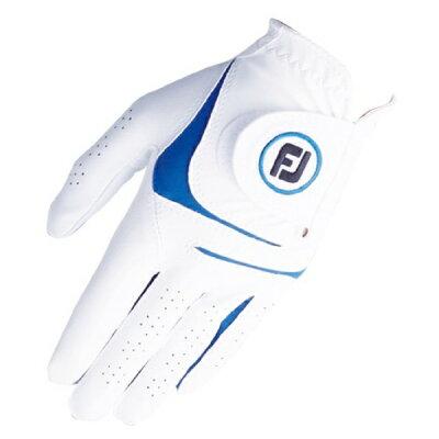 フットジョイ ゴルフグローブ WeatherSof 18cm/ホワイト×ブルー FGWFW18