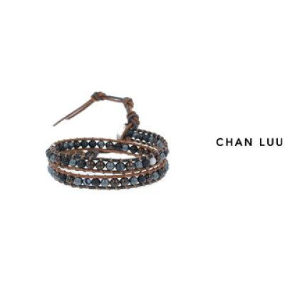 CHAN LUU/チャンルー セミプレシャスストーン 2連ラップブレスレット BSM-1660 BRONZITE MIX