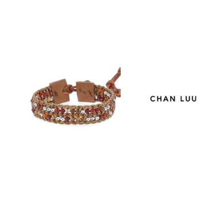 CHAN LUU/チャンルー ストーンビーズミックス 1連ブレスレット BSM-1675 RED MIX THRUSH