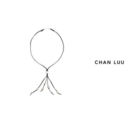 CHAN LUU/チャンルー 淡水パール タッセルネックレス NS-13211 GREY MIX