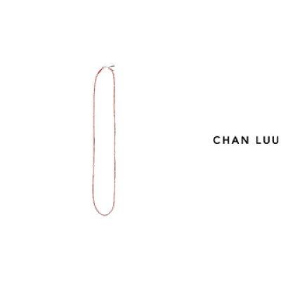 CHAN LUU/チャンルー シルバーナゲット コードネックレス NS-13338 FIERY RED