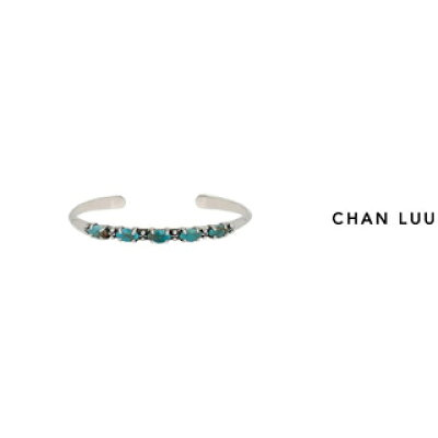 CHAN LUU/チャンルー マーキスカットストーン シルバーバングル BS-5261 TURQUOISE