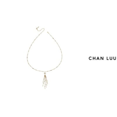 CHAN LUU/チャンルー セミプレシャスペンダント ゴールドネックレス NG-13497 GOLD MIX