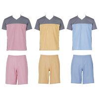 フットマーク 入浴介護ウェア Tシャツ ブルー LL 403340-10-LL