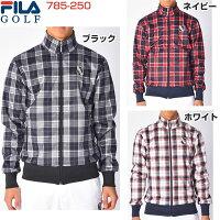 フィラ ゴルフ FILA GOLF メンズウェア ストレッチ チェック柄ボンディングブルゾン 785-250 ゴ