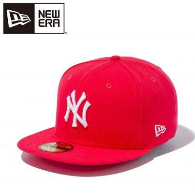 ニューエラ キャップ 59FIFTY MLB ニューヨークヤンキース ラヴァレッド×ホワイト 5950 NEYYAN LV RED SWHT 11308549
