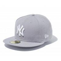 ニューエラ キャップ 59FIFTY MLB ニューヨークヤンキース グレー×ホワイト 5950 NEYYAN GRY SWHT 11308553