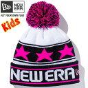 Kids Pom-Pon Knit Star Line 11322159 ホワイト×ブラック×蛍光ピンク