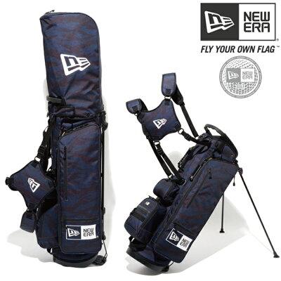 ニューエラ NEW ERA Caddie Bag Stand スタンドキャディバッグ タイガーストライプネイビー 11404363