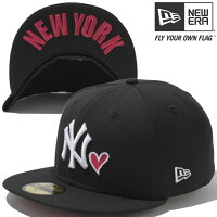 New Era 59FIFTY Under Visor MLB With Heart New York Yankees Black