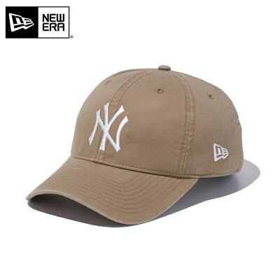 ニューエラ NEW ERA 9TWENTY Washed Cotton ニューヨーク ヤンキース ボールキャップ 帽子 CAP 11434003 カーキ×ホワイト