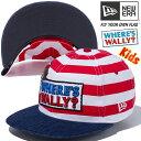 ニューエラ キッズ NEW ERA Kid's 9FIFTY ウォーリーをさがせ ロゴ ボーダー スナップバックキャップ 帽子 子供服 11448081 マルチカラー