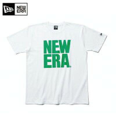 ニューエラ NEW ERA Tシャツ 半袖 コットン メンズ レディース Tシャツ ビッグニューエラ ホワイト × グリーン 11556807