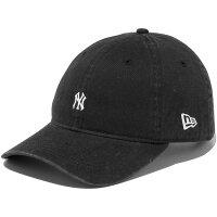 ニューエラ 9THIRTY クロスストラップ ウォッシュドコットン ニューヨークヤンキース ストラップバックキャップ ユニセックス 帽子 NEW ERA 11557432 ブラック×ホワイト
