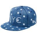ニューエラ キッズ キャップ スナップバック 9FIFTY STARS ON DENIM NYC ウォッシュドデニム NEW ERA YOUTH