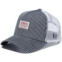 ニューエラ メッシュキャップ 帽子 NEW ERA 9FORTY A-Frame トラッカー ジャパンヒッコリー  newera cap 11781433 ネイビー ホワイトメッシュ