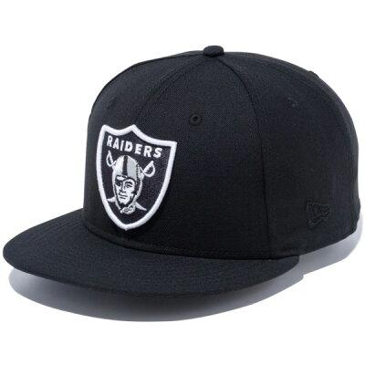 New Era 9FIFTY Snap Back Cap NFL Custom Oakland Raiders Black Team Color