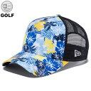 ニューエラ ゴルフ ディズニー コラボ メッシュキャップ 9FORTY ALOHA MICKEY PRINT プリント/ブラックメッシュ NEW ERA GOLF DISNEY