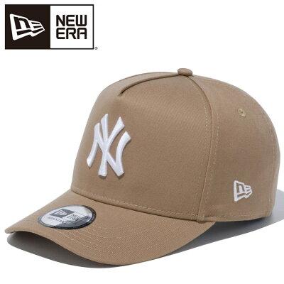 ニューエラ キャップ メンズ レディース NEW ERA 9FORTY D Frame ニューヨーク・ヤンキース カーキ/スノーホワイト 12018974