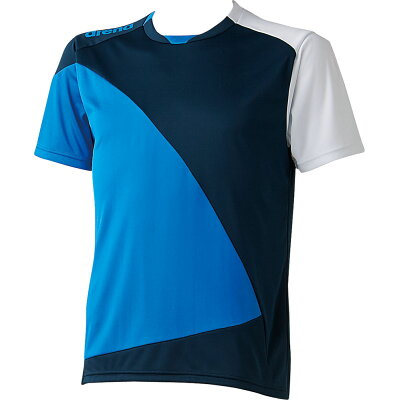 ARENA アリーナ ハーフスリーブ Tシャツ 半袖 ファインスムース ARN-6332 DBWダークネイビー×ブルーホワイト