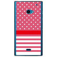 SECOND SKIN ドット/ボーダー ベリィピンク クリア / for AQUOS CRYSTAL 2/SoftBank SSHCR2-PCCL-201-Y404