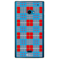 SECOND SKIN Tartan check レッド クリア design by Moisture / for AQUOS CRYSTAL 2/SoftBank SSHCR2-PCCL-277-Y470