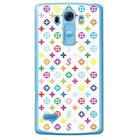 SECOND SKIN Monogram ホワイト クリア design by ROTM / for Disney Mobile on docomo DM-01G/docomo DLGDM1-PCCL-202-Y005